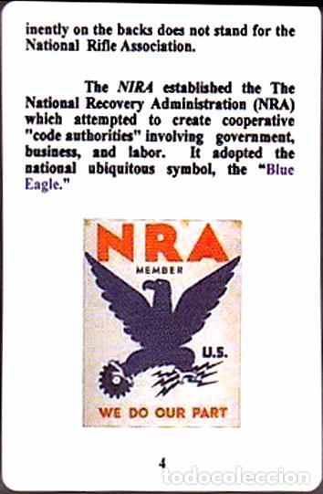 Barajas de cartas: BARAJA ROOSEVELT FDR NEW DEAL DECK OF 1934, USA, NUEVA, PRECINTADA - Foto 14 - 83369030
