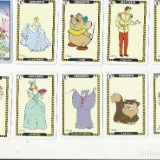 Barajas de cartas: LOTE CENICIENTA (INCOMPLETO) DISNEY CLASSICS JUEGO CARTAS COLECCIONABLES NAIPES FOURNIER. Lote 83835020