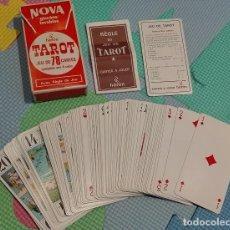 Barajas de cartas: BARAJA CARTAS TAROT HERON NOVA GLACEES LAVABLES. Lote 84205628
