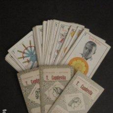 Barajas de cartas: BARAJA ESTRELLAS CINE-REVERSO HISTORIA DEL PEINADO-PUBLICIDAD ULTRAMARINOS CAPDEVILA -(V-10.678). Lote 84345012