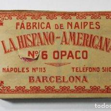 Jeux de cartes: BARAJA LA HISPANO AMERICANA Nº 6 OPACO VITELAS DE UAN HOJA, FABRICA DE NAIPES, MUY RARA. Lote 84345376