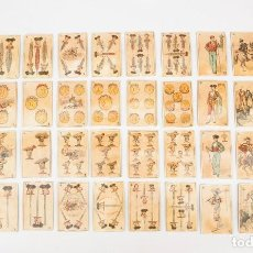 Barajas de cartas: BARAJA DE CARTAS DE TEMÁTICA TAURINA, PEDRO MALDONADO. ORIGINAL DE ÉPOCA Y COMPLETA. ESPAÑA, 1885. Lote 84875716