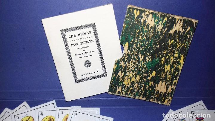 Barajas de cartas: BARAJA - LAS ARMAS DE DON QUIJOTE - EVARISTO JUNCOSA HIJO - COMPLETA + SU ORIGEN: LIBRO 1908 - Foto 4 - 84906780