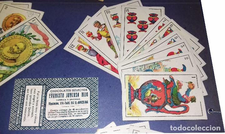 Barajas de cartas: BARAJA - LAS ARMAS DE DON QUIJOTE - EVARISTO JUNCOSA HIJO - COMPLETA + SU ORIGEN: LIBRO 1908 - Foto 7 - 84906780