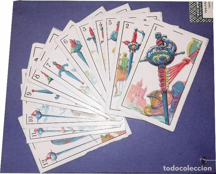 Barajas de cartas: BARAJA - LAS ARMAS DE DON QUIJOTE - EVARISTO JUNCOSA HIJO - COMPLETA + SU ORIGEN: LIBRO 1908 - Foto 8 - 84906780
