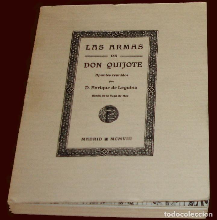Barajas de cartas: BARAJA - LAS ARMAS DE DON QUIJOTE - EVARISTO JUNCOSA HIJO - COMPLETA + SU ORIGEN: LIBRO 1908 - Foto 9 - 84906780