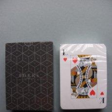 Barajas de cartas: BARAJA NAIPES PUBLICIDAD BOKK OF LONDON, FILOS EN PLATA, NUEVA PRECINTADA. Lote 105560826