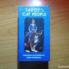 Barajas de cartas: TAROT OF THE CAT PEOPLE GATO 78 CARTAS. Lote 85260260