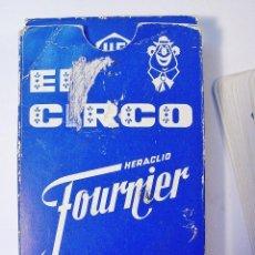 Barajas de cartas: EL CIRCO. PRIMERA EDICIÓN. FOURNIER. 40 CARTAS. BARAJA COMPLETA E INSTRUCCIONES. BUEN ESTADO. . Lote 85393960