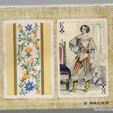 Barajas de cartas: -66963 BARAJAS TRAJES FRANCESES 1850, HERACLIO FOURNIER, REVERSO TAPICERIAS GANCEDO. Lote 85500168