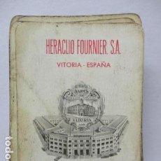 Barajas de cartas: ANTIGUA BARAJA Nº 55 NAIPES INTRANSPARENTES - VITORIA - HERACLIO FOURNIER - 49 CARTAS. Lote 85585540