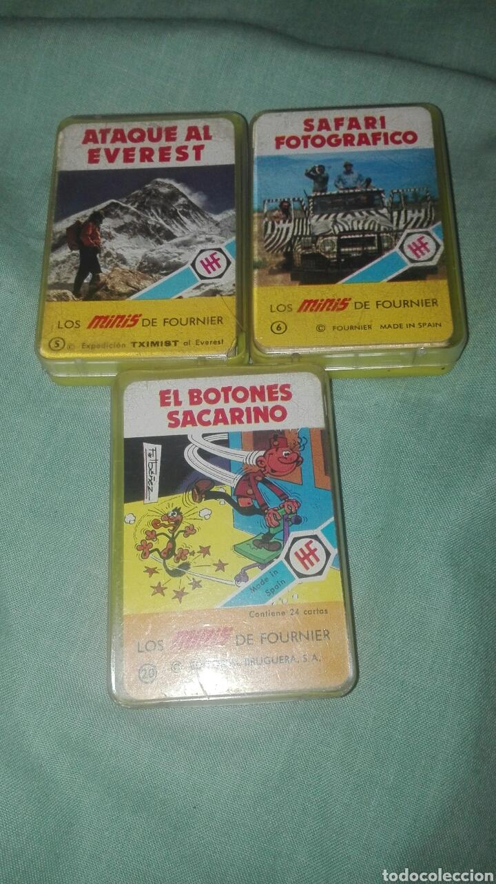 LOTE DE 2 BARAJAS LOS MINIS DE FOURNIER ATAQUE AL EVEREST-SAFARI FOTOGRAFICO (Juguetes y Juegos - Cartas y Naipes - Barajas Infantiles)