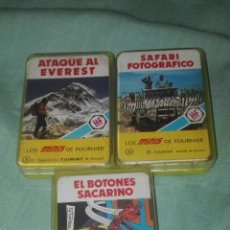 Barajas de cartas: LOTE DE 2 BARAJAS LOS MINIS DE FOURNIER ATAQUE AL EVEREST-SAFARI FOTOGRAFICO. Lote 85948734