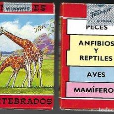 Barajas de cartas: BARAJA PRECINTADA, JUEGO DE ANIMALES VERTEBRADOS DE FOURNIER. 52 CARTAS + 3 EXPLICATIVAS + FOLLETO. Lote 94708830
