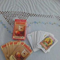 Barajas de cartas: FOURNIER BARAJA COMPLETA 40.CARTAS NAIPES FIBRA DE MARFIL CON PUBLICIDAD DE SOBERANO. Lote 118525899