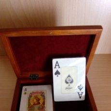 Barajas de cartas: CAJA DE MADERA CARTAS HERACLIO FOURNIER. Lote 86352170