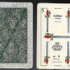 Barajas de cartas: BARAJA HERALDICA CASTANYER Nº 6, REVERSO DIFERENTE. PRECINTADA.. Lote 86452404