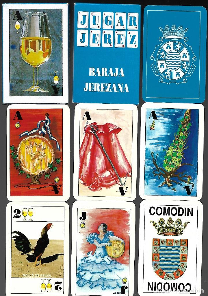 BARAJA JEREZANA, S. FERRER, GRAFICAS DEL EXPORTADOR DE 1992, 40 CARTAS + 2 COMODINES SIN ESTRENAR. (Juguetes y Juegos - Cartas y Naipes - Baraja Española)