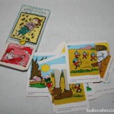 Barajas de cartas: ANTIGUA BARAJA DE CARTAS, PAREJAS GULLIVER, NAIPES COMAS AÑOS 70, COMO NUEVA. Lote 86508496