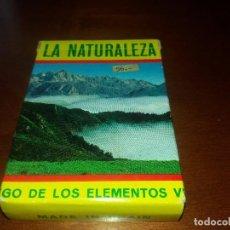 Barajas de cartas: ANTIGUA BARAJA FOURNIER LA NATURALEZA DEL JUEGO DE LOS ELEMENTOS AÑOS 70 COMPLETA Y CON INSTRUCCIONE. Lote 86596580