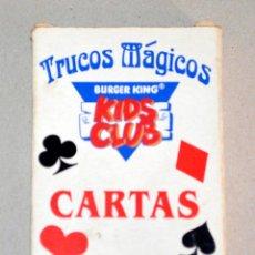 Barajas de cartas: BARAJA CARTAS TRUCOS MÁGICOS. KIDS CLUB, BURGER KING.. Lote 86688412