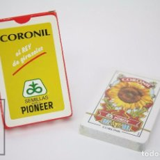 Barajas de cartas: BARAJA DE CARTAS ESPAÑOLA - PUBLICIDAD CORONIL / PIONEER - PRECINTADA - NAIPES COMAS. Lote 86704576