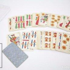Barajas de cartas: ANTIGUA BARAJA DE CARTAS ESPAÑOLA - JUAN ROURA Nº 5, BARCELONA. LA LEGÍTIMA LOBA - TIMBRE ROJO, 1928. Lote 86708012