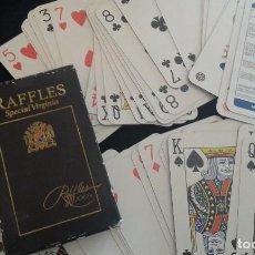 Barajas de cartas: BARAJA CARTAS PÓKER RAFFLES SPECIAL (BÉLGICA). Lote 86793036