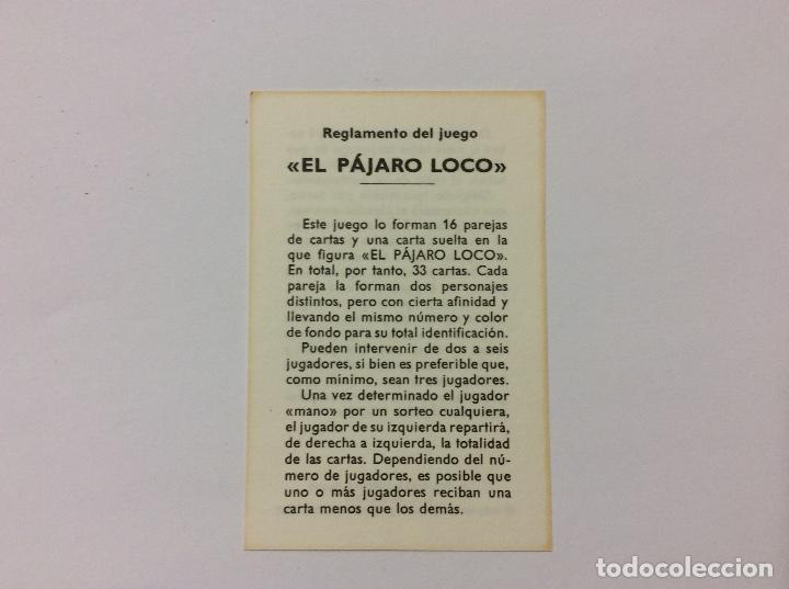 Barajas de cartas: Baraja Infantil EL PÁJARO LOCO 1974 - Foto 3 - 87205248