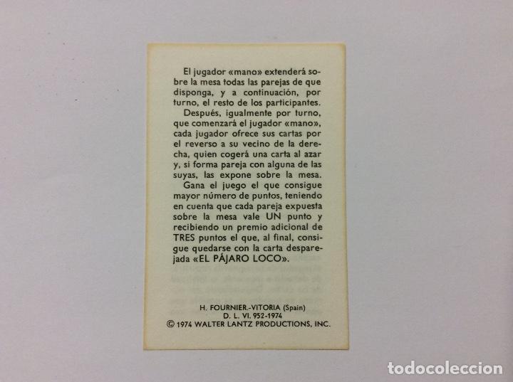 Barajas de cartas: Baraja Infantil EL PÁJARO LOCO 1974 - Foto 4 - 87205248