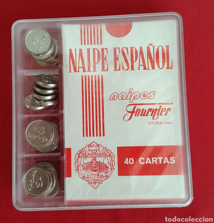 BARAJA/CARTAS/NAIPES HERACLIO FOURNIER IBERCAJA CON FICHAS PRECINTADA (Juguetes y Juegos - Cartas y Naipes - Baraja Española)