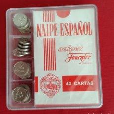 Barajas de cartas: BARAJA/CARTAS/NAIPES HERACLIO FOURNIER IBERCAJA CON FICHAS PRECINTADA. Lote 87242154