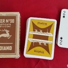 Mazzi di carte: BARAJA NAIPES VINTAGE MODIANO PODER N°98 ITALIA NAVIGAZIONE. Lote 87350624