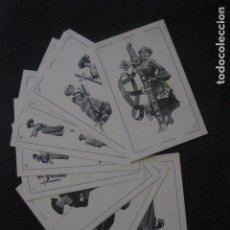 Barajas de cartas: BARAJA CARTAS-POSTALES COLECCION CANOVAS-PALO DE ESPADAS -10 POSTALES CARTAS -VER FOTOS -(V-11.218). Lote 87366720