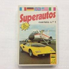 Barajas de cartas: BARAJA INFANTIL SUPERAUTOS PRECINTADA. Lote 87407300