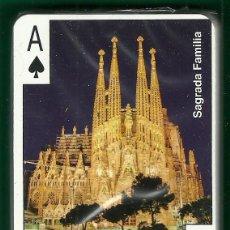 Barajas de cartas: BARAJA DE POKER CON IMAGENES Y MONUMENTOS DE BARCELONA - NUEVA. Lote 87460872