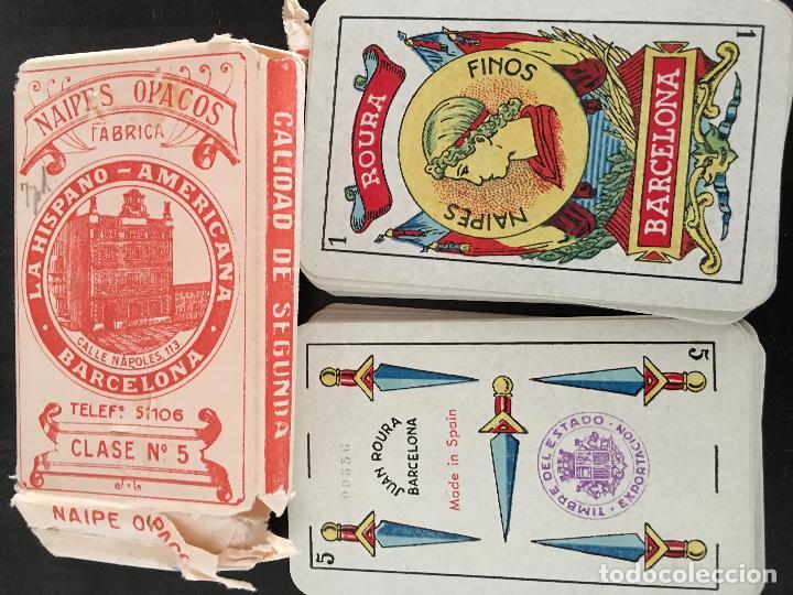 Barajas de cartas: BARAJA 40 + 2 NAIPES JUAN ROURA LA HISPANO AMERICANA 1932 - Foto 5 - 58814346