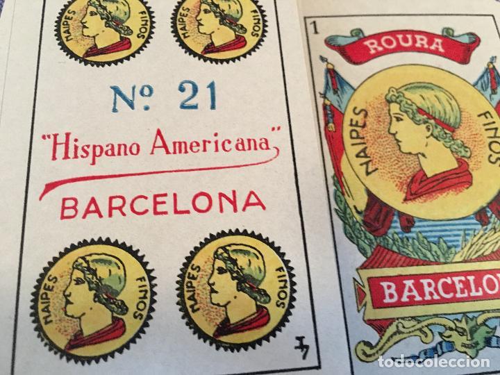 Barajas de cartas: BARAJA 40 + 2 NAIPES JUAN ROURA LA HISPANO AMERICANA 1932 - Foto 6 - 58814346
