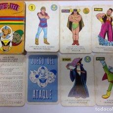Barajas de cartas: BARAJA COMPLETA HEROES DE LA TELE/EL JUEGO DEL ATAQUE DE EDICIONES RECREATIVAS1979 CON INSTRUCCIONES. Lote 88331560