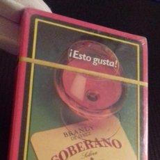 Barajas de cartas: BARAJA ESPAÑOLA 40 CARTAS FOURNIER PUBLICIDAD BRANDY SOBERANO - ESTO GUSTA. PRECINTADA.. Lote 88736108
