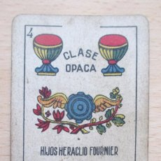 Barajas de cartas: BARAJA DE NAIPES HERACLIO FOURNIER, OPACA Nº 35. Lote 88782032