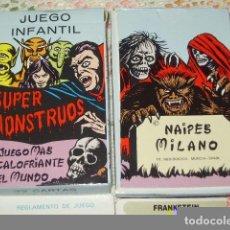 Barajas de cartas: BARAJA INFANTIL SUPERMONSTRUOS & SUPER MONSTRUOS,NAIPES MILANO. Lote 112071294