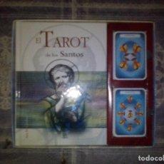 Barajas de cartas: LIBRO Y CARTAS EL TAROT DE LOS SANTOS.. Lote 89043148