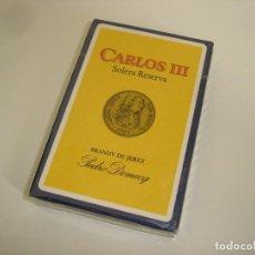 Barajas de cartas: BARAJA CARTAS, HERACLIO FOURNIER - BRANDY DE JEREZ CARLOS III. 40 NAIPES.. Lote 89447064