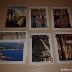 Barajas de cartas: BARAJA DE CARTAS DE POKER CON 55 VISTAS DE CATALUÑA BARAJA FOURNIER. JOC DE CARTES DE CATALUNYA. Lote 89452544