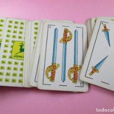 Barajas de cartas: BARAJA/CARTAS/NAIPES-HERACLIO FOURNIER-PUBLICIDAD:JOHN DEERE-COMPLETA-VER FOTOS. Lote 89545808