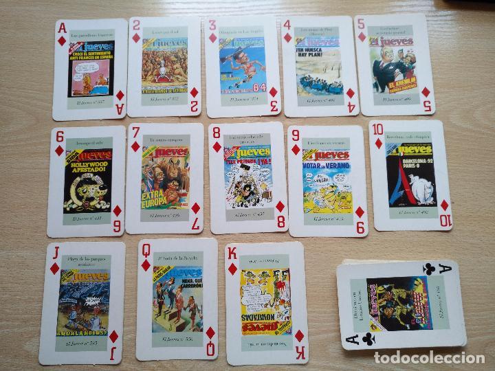 Barajas de cartas: BARAJA DE CARTAS POKER PORTADAS DE EL JUEVES COMPLETA 54 NAIPES 1994 - Foto 2 - 89516848