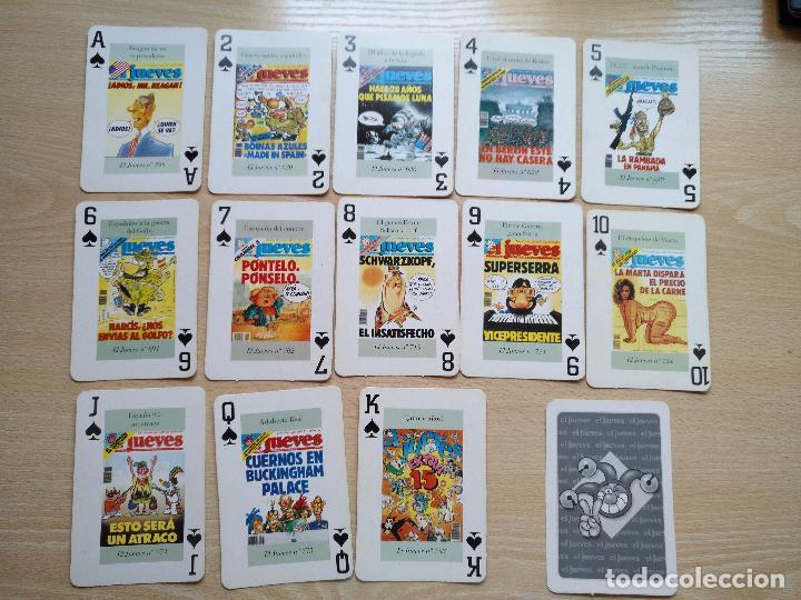Barajas de cartas: BARAJA DE CARTAS POKER PORTADAS DE EL JUEVES COMPLETA 54 NAIPES 1994 - Foto 3 - 89516848