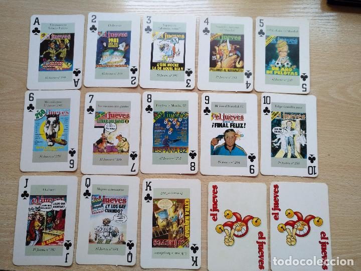 Barajas de cartas: BARAJA DE CARTAS POKER PORTADAS DE EL JUEVES COMPLETA 54 NAIPES 1994 - Foto 5 - 89516848