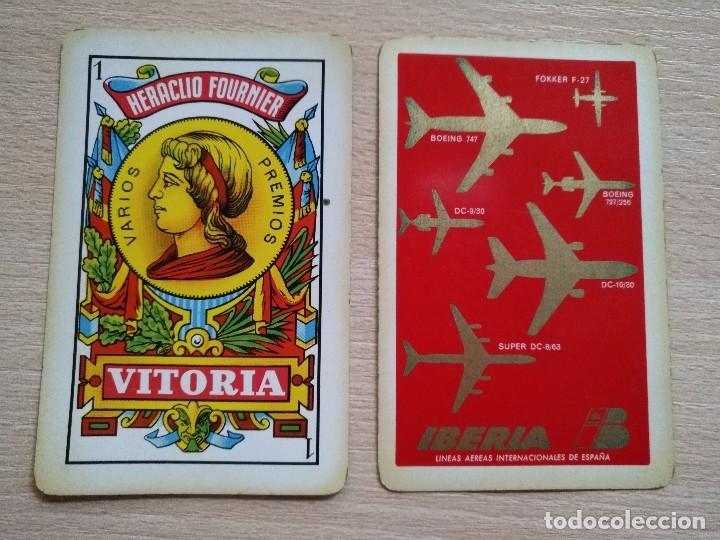 BARAJA HERACLIO FOURNIER.40 CARTAS, COMPLETA PUBLICIDAD IBERIA LINEAS AEREAS 1962 (Juguetes y Juegos - Cartas y Naipes - Baraja Española)